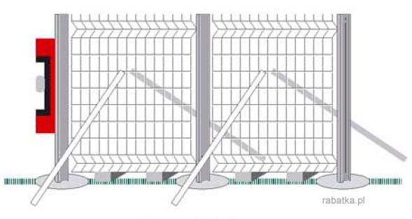 Super Montaż ogrodzenia panelowego Rabatka.pl Ogrodzenia działek i upraw HF63