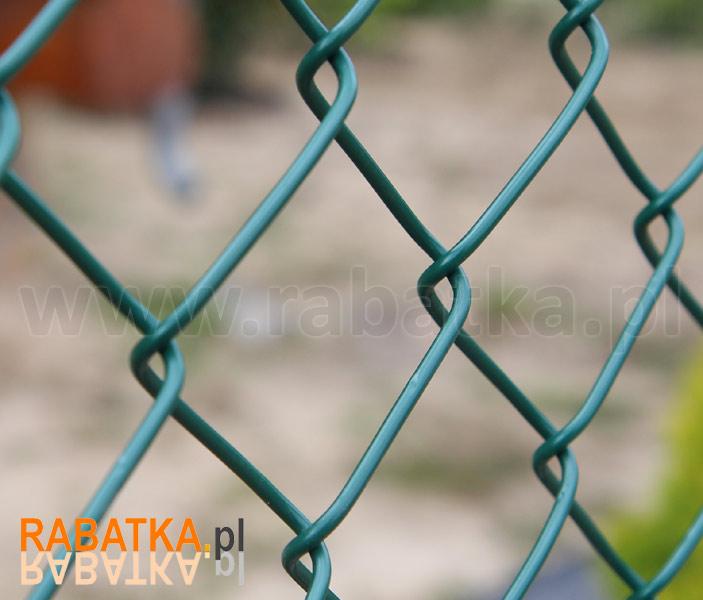 9e0f13f55dff1b Siatka ogrodzeniowa powlekana zielona oczko 50mm drut 3,1mm wysokość 150cm  Rabatka.pl Ogrodzenia działek i upraw